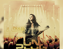 Unplugged Concert Flyer Template