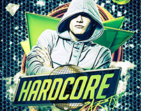 Hardcore Party Flyer Template