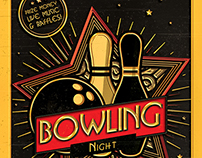 Bowling Night Flyer / Magazine Ad
