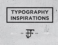Typography inspirations