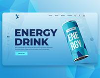 Health Energy Drinks Web Design