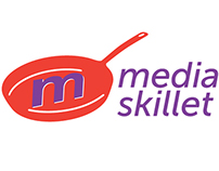 Media Skillet company name and logo design