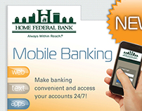 Mobile Banking Print Campaign