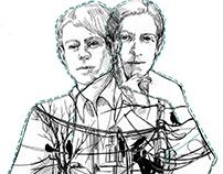Editorial Illustration/ Russian poets Portraits