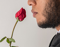 A man and a rose