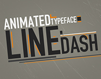Line Dash Animated Typeface