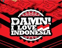 Damn! I Love Indonesia Logo Custom