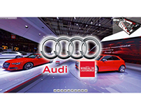 Virtual tour of AUDI's stand @ Salon Mondial de l'auto