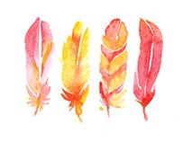 My miniature watercolors