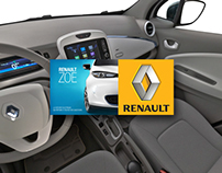 360° virtual tour of the Renault Zoé.