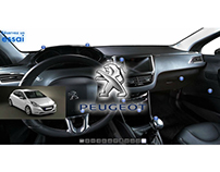 360° virtual tour of the Peugeot 208 e-HDi.