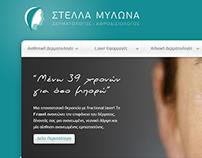 Website for dermatologist Stella Mylona