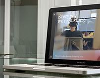 Macbook Pro over glass desk
