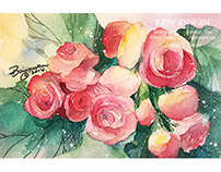 water color,flower