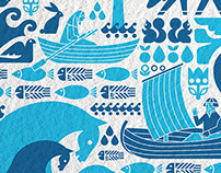 Selande. Natural water from Karelia. Logo and label.