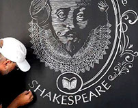 Shakespeare Chalk Drawings