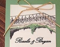 Watercolor Ivy Bridge Wedding Invitation