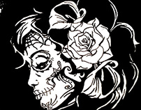 Day of the Dead Screenprinting
