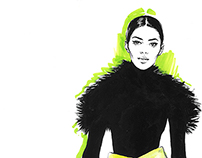 Kenzo. Editorial fashion illustration.