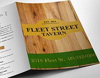 Fleet Street Tavern Restaurant Menu Design