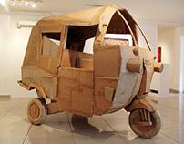 Dicaci dan Dicari, Sculpture, Cardboard, 2010.