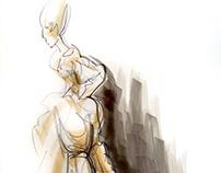 Big kopic fashion illustration