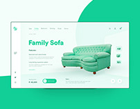 Sofa UI design concept