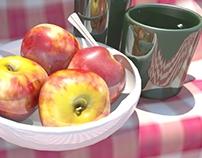 .: 3D apple :.