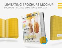 Brochure | Magazine | Bifold Levitating Mockup
