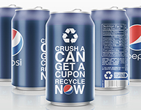 Recycle PEPSI can