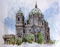 Berliner Dom wateroclors
