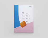 """Calendar 2014"""" color type"""
