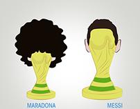 Ilustraciones - Argentina - Mundial 2014 - Messi