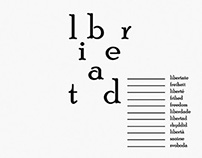 Libertad Voices \ typography cartel design by J. Claure
