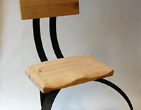 The Hansel Chair: Steel and Recycled Wood