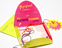 "Invitation for ""flower power party"""