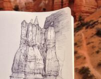 Plein air rock studies - Utah