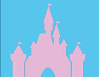 Disneyland castle minimalist