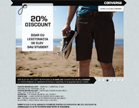 Landing Page for Converse Romania