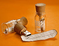 Message Bottle Pen drives - Suryagarh, Jaisalmer