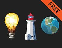 Free Low Poly Icons Set