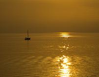 Ein Abend an der See, Niederlande, Stavoren