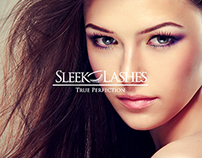 Sleek Lashes - Home Page Design