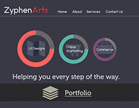 Zyphen Arts Website Template 2