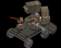 Wooden Toy Missile Platform