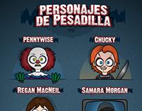Personajes de Pesadilla