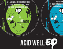 Acid well - EP vinyl label artwork commissioned