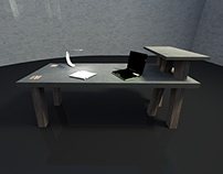"CONCRETE TABLE ""MIKADO"""