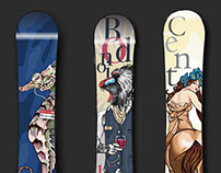 Typography Snowboard Design