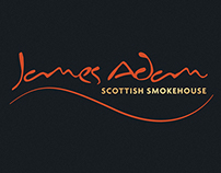 James Adam Salmon Brand Identity and Packaging